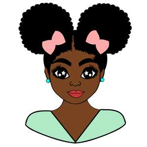 afro puffs teenager bust