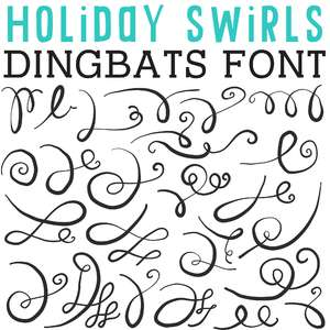 cg holiday swirls dingbats
