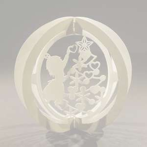 one layered pop up sphere merry christmas type a