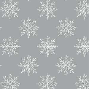 silver and snow snowflake pattern