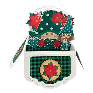 5x7 green plaid popup card in a box