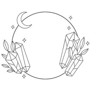 moon and crystal wreath