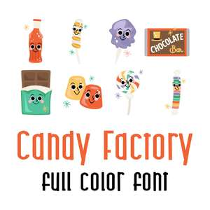candy factory full color font