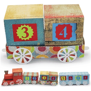 3d advent calendar train flat car