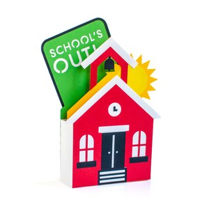 out of school schoolhouse box card