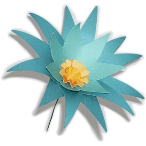 3D spiky flower