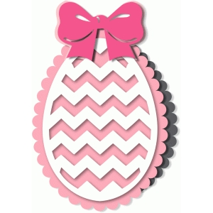 'chevrons'scalloped egg card