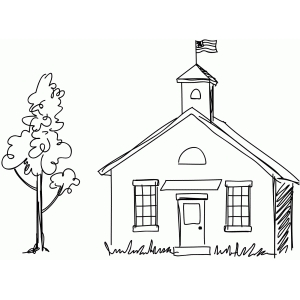 sketch schoolhouse