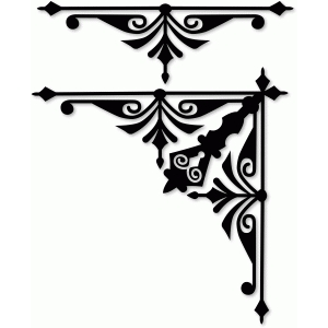 corner and border motif art nouveau