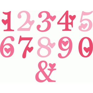 valentine number set