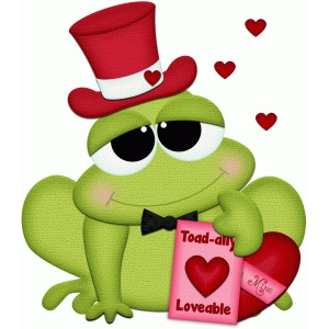 valentine frog w hat holding candypnc