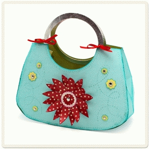 purse with circle handle