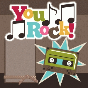 you rock single 12x12 scrapbook page kit