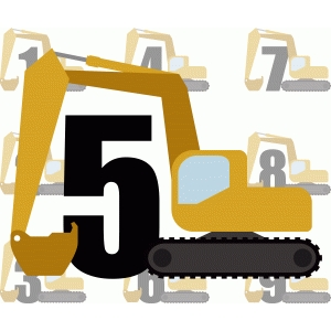 backhoe birthday numbers