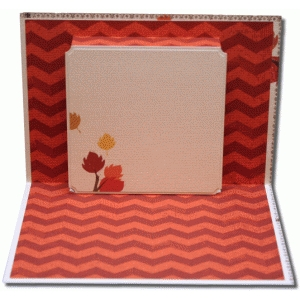 a2 pop up square frame card