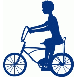 boy on bike silhouette