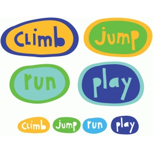 playground activities words badges