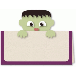 frankenstein peek-a-boo a2 card