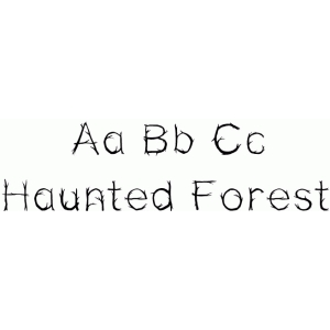 haunted forest font