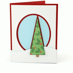 a2 christmas tree card