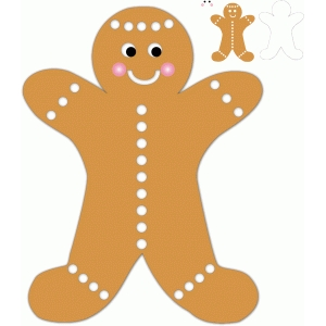 christmas gingerbread man w/dots