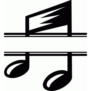 split music note