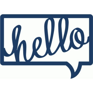conversation bubble - hello