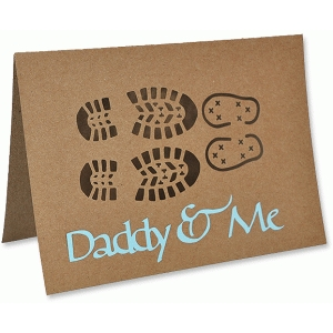 daddy & me bootprints card