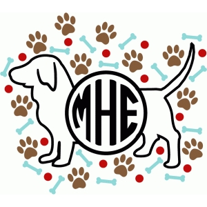 small dog custom monogram