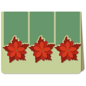 poinsettia trio a6 card