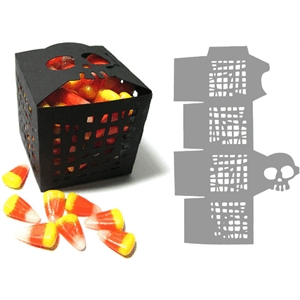 halloween party skull favor box