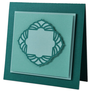 art deco floral frame card