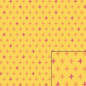 yellow plus pattern