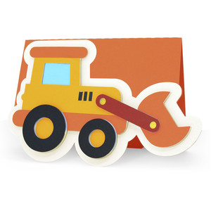 bulldozer tractor card