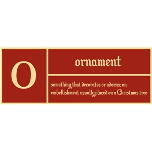 o is for ornament pc