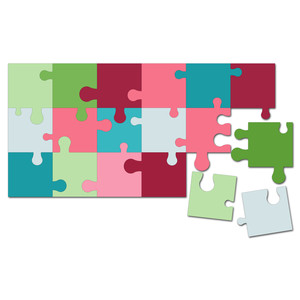 easy cut activity puzzle 4.5 in. x 9 in.
