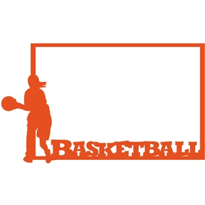 girl basketball frame