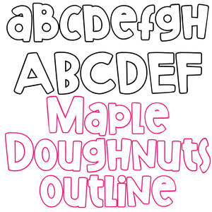 pn maple doughnuts outline