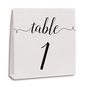 table cards fancy 1-10