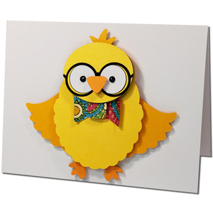 stacked chick glasses card