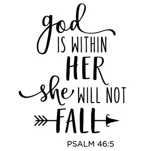 god is within her phrase