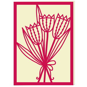 tulip bouquet card