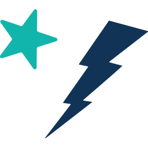lightning bolt and star