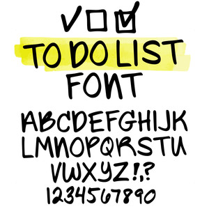 sg to-do list font