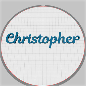 christopher name pendant