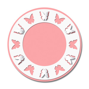 pop out butterflies circle frame
