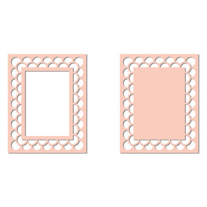 decorative border cutout rectangle frame