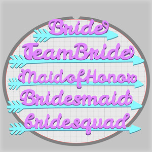 team bride pendants