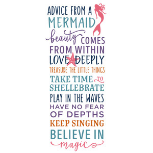 advice from a mermaid list