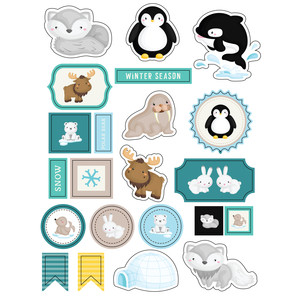 ml winter animals stickers